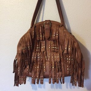 Anthropologie, Lucky Penny Leather fringe purse